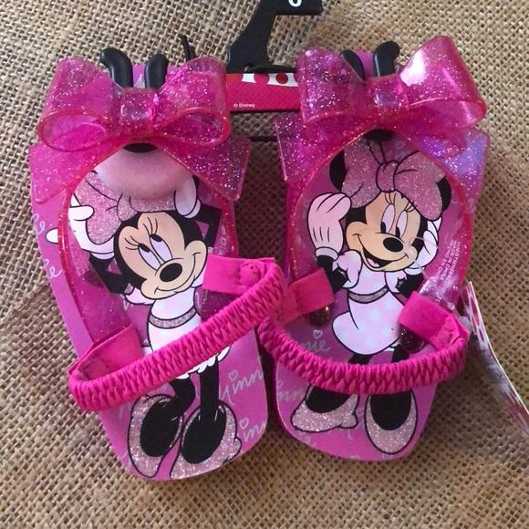 368024c608b Minnie Toddler Sandals Girls Flip Flop Beach